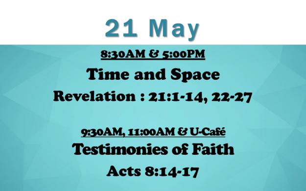 21 May 2017 Sermon Title