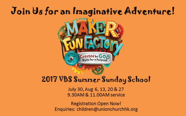 Maker Fun Factory VBS Sunday School