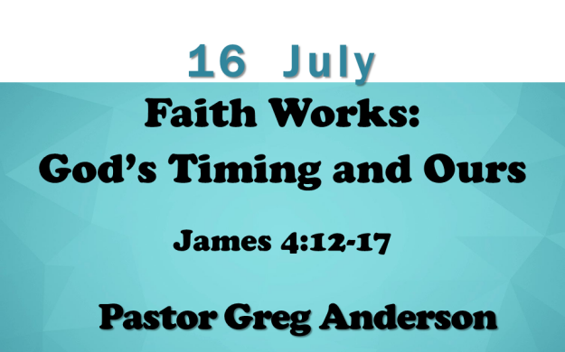 16 July 2017 sermon title