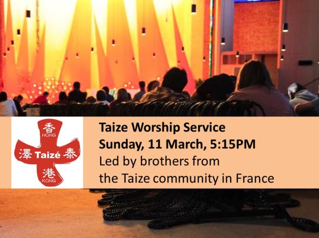 Special Taize worship service