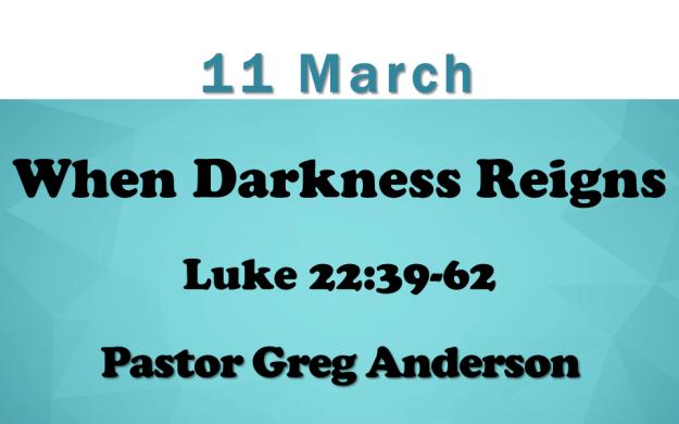11 March 2018 Sermon Title