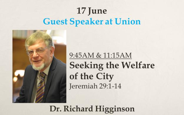 17 June 2018 Sermon Title - Richard Higginson