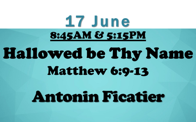17 June 2018 Sermon Title