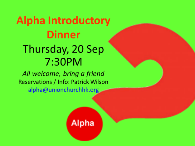 Alpha Introductory Dinner Sep 2018