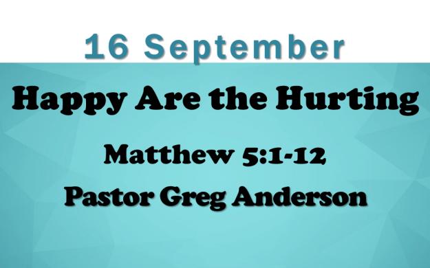 16 September 2018 Sermon Title