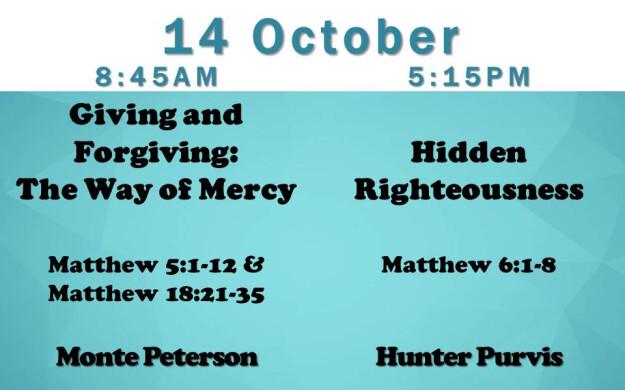 14 October 2018 Sermon Title (8:45AM & 5:15PM).