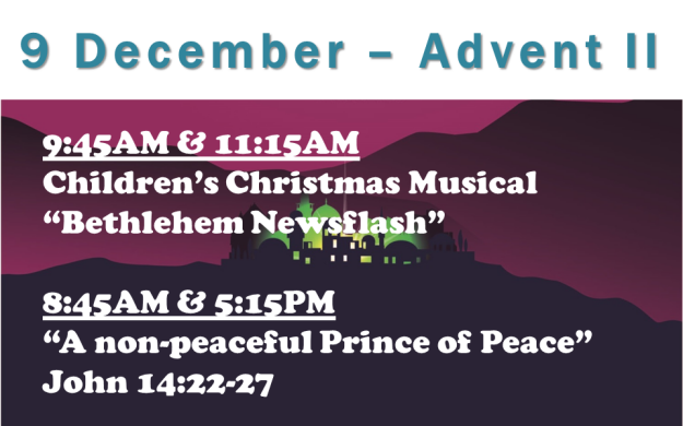 9 December 2018 Sermon Title.
