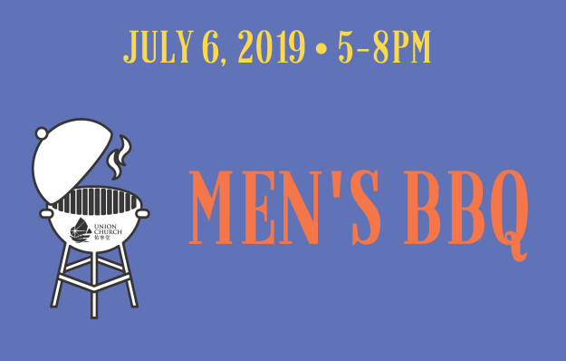 Union Men BBQ – Saturday, 6 July.