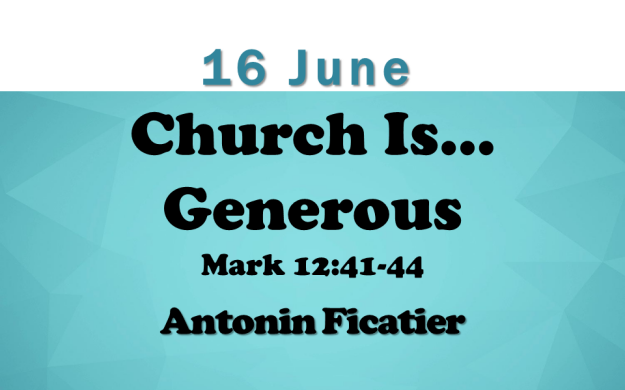 16 June 2019 Sermon Title.