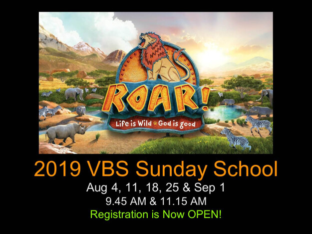 """ROAR' VBS SUNDAY SCHOOL"